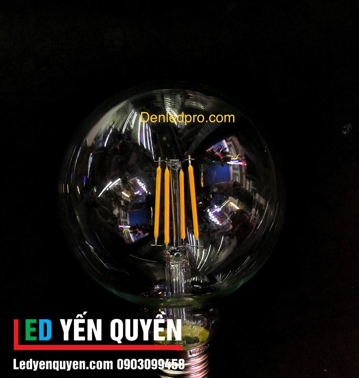 Bóng LED Edison 4W G80